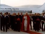 Arrivo del Papa