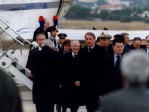 Arrivo del Presidente della Repubblica Ciampi